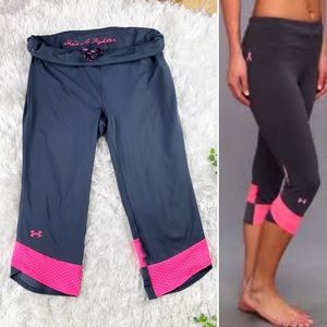Under Armour She's A Fighter Breast Cancer Capri's
